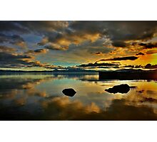 Golden Mirror of Nature Photographic Print