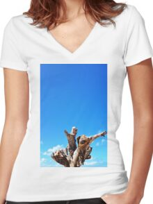 Trunk Tree Women's Fitted V-Neck T-Shirt