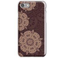 Autumn design with abstract geometric mandala ornament iPhone Case/Skin