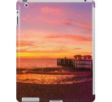 Dramatic Sky and Penarth Pier before Sunrise Panorama iPad Case/Skin