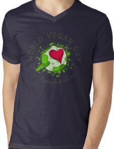 World Vegan Day Mens V-Neck T-Shirt