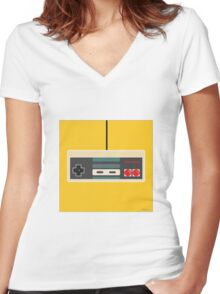 Nintendo Old School Women's Fitted V-Neck T-Shirt