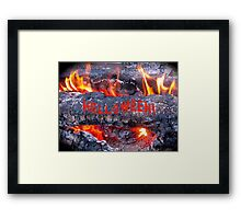 HELLOWEEN - HALLOWEEN CARD AND COVERS Framed Print