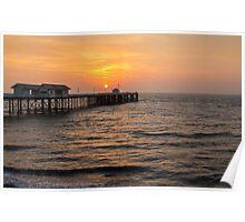 Penarth Pier at Sunrise   Poster