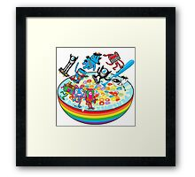 Skate Cereal Framed Print