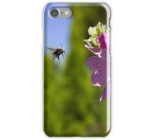 Bee and pink flower iPhone Case/Skin