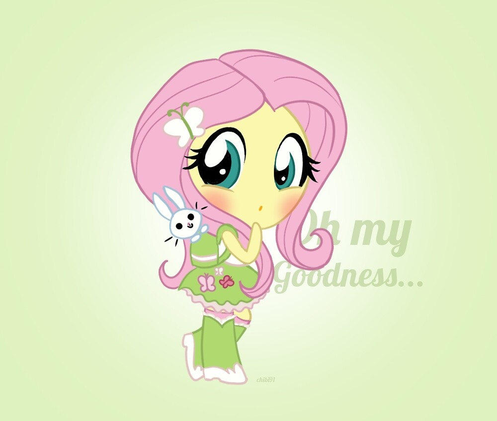 cute Equestria girls - fluttershy by Chibi91