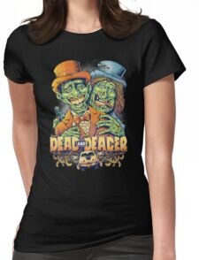 Dead and Deader Zombie Tribute to Dumb and Dumber Womens Fitted T-Shirt