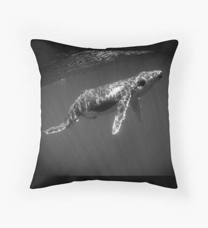 Baby in monochrome Throw Pillow