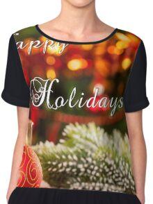 Happy Holidays Chiffon Top