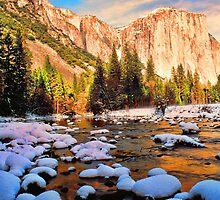 EL CAPITAN AND MERCED RIVER,WINTER   by Chuck Wickham