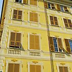 Yellow Facade - Santa Margherita by Marilyn Harris