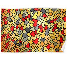 Warm colored rectangle spots Poster