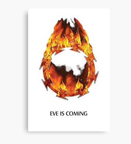 ODM - Eves burning halo white Canvas Print