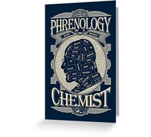 Phrenology of a chemist - Breaking Bad Greeting Card