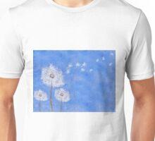 flying dandelion watercolor painting Unisex T-Shirt