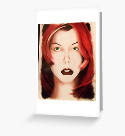 Milla - Red Hair Greeting Card