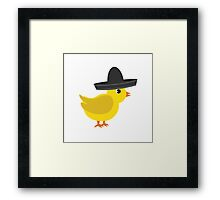 Chick wearing sombrero Framed Print