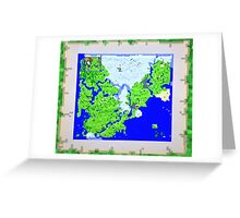 Mining Map King Size Duvet  Greeting Card