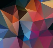 Abstract print geometrical pattern of triangles polygon. Fabric design in bright colors Sticker