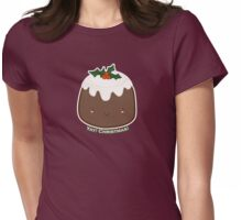 Cute Christmas Pudding Womens Fitted T-Shirt