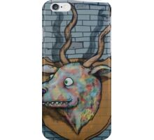 Deer Graffiti mural  iPhone Case/Skin