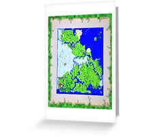 Mining Map Twin Size Duvet  Greeting Card
