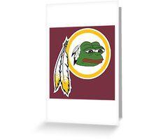 Redskins pepe Greeting Card