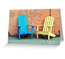 Sidewalk Chairs Greeting Card