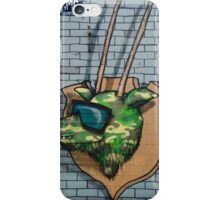 Graffiti mural Gazelle on teh brick wall iPhone Case/Skin