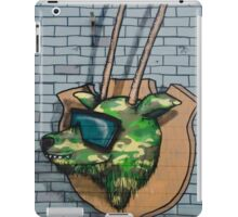 Graffiti mural Gazelle on teh brick wall iPad Case/Skin
