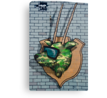 Graffiti mural Gazelle on teh brick wall Canvas Print