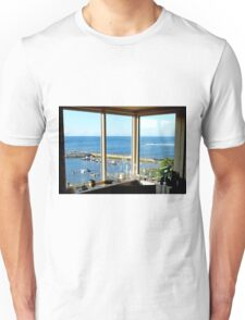 Seaside window view Unisex T-Shirt