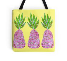 Pineapple Crush on pale yellow Tote Bag