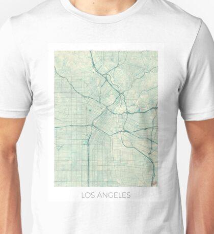 Los Angeles Map Blue Vintage Unisex T-Shirt