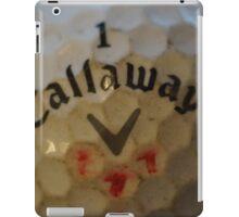 golf ball macro iPad Case/Skin