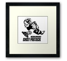 Hand-drawing Mission Impossible  Framed Print