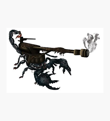 awesome tank cannon scorpion boom  Photographic Print