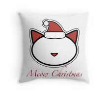 Meow Merry Christmas Throw Pillow