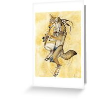 Song Dog Greeting Card