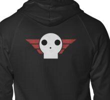 Skull Sqaudron Logo Zipped Hoodie