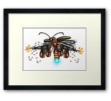awesome rambo machine gun glowworm Framed Print