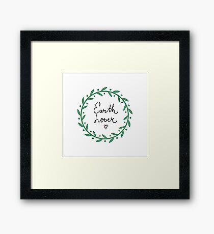Earth and nature lover Framed Print