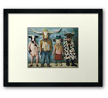 Cattle Line Up Framed Print