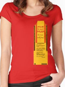 Film is not dead, smells funny Women's Fitted Scoop T-Shirt