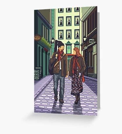 Once a pixelart Greeting Card