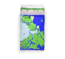 Mining Map Twin Size Duvet  Duvet Cover