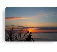 beautiful orange sunset over loop head Canvas Print