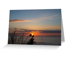 beautiful orange sunset over loop head Greeting Card