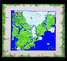 Mining Map King Size Duvet  by Sophersgreen